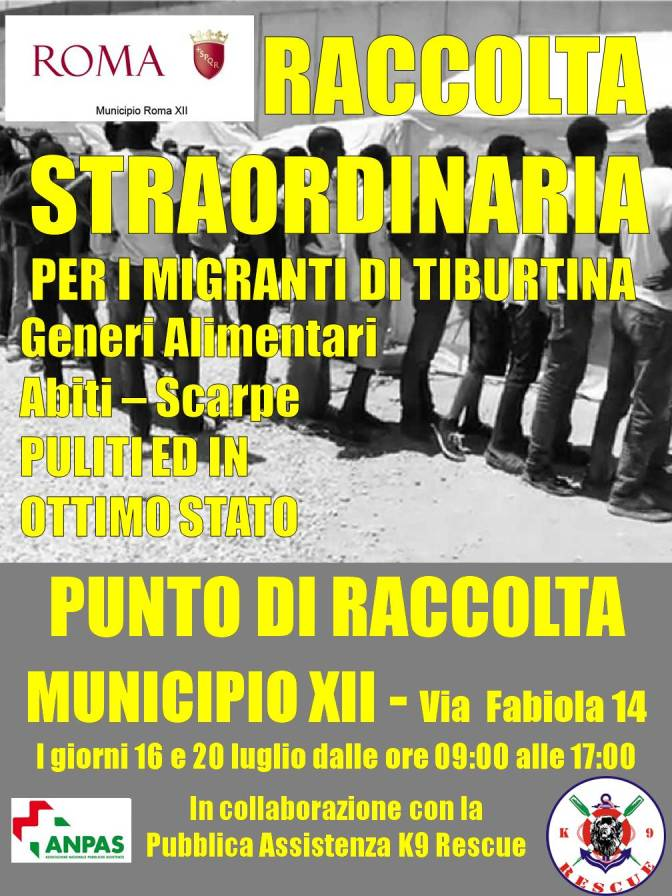 MUNICIPIO XII – RACCOLTA STRAORDINARIA