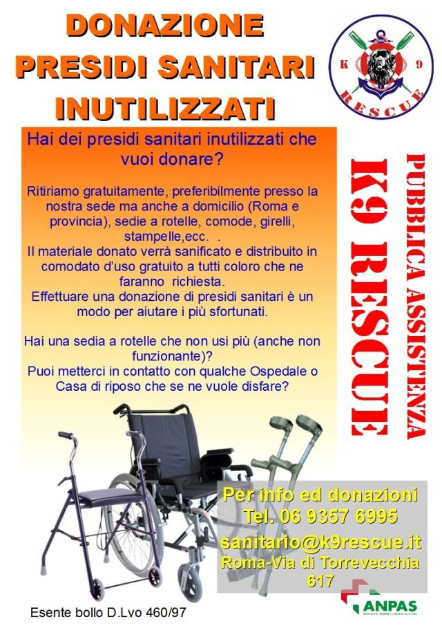 Donazione Presidi Sanitari K9 Rescue Italia