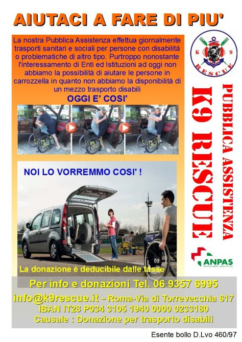 Locandina Campagna Trasporto Disabili