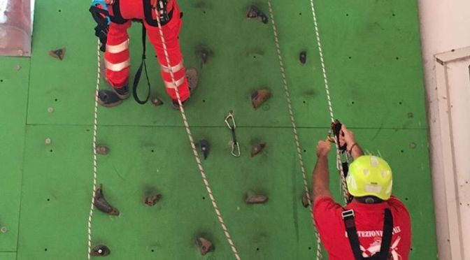 Addestramento Squadra Operatori su Funi