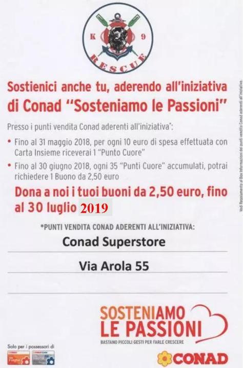 Sosteniamo le passioni Conad 2019